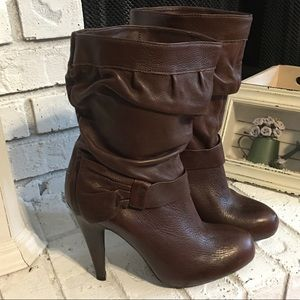 Gianni Bini Ava Spike Heel Boots Size 8.5 Brown